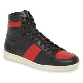 SAINT LAURENT カウント クラシック ハイ スニーカー 【 SL 10H SIGNATURE COURT CLASSIC HIGH TOP SNEAKER NERO NEW RED 】 メンズ 送料無料