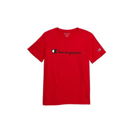 チャンピオン CHAMPION ロゴ 【 HERITAGE LOGO TSHIRT SCARLET 】 キッズ ベビー マタニティ トップス Tシャツ 送料無料