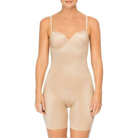SPANX?< SUP> 【 SUIT YOUR FANCY STRAPLESS CUPPED MIDTHIGH SHAPER BODYSUIT CHAMPAGNE BEIGE 】 インナー 下着 ナイトウエア レディース 送料無料