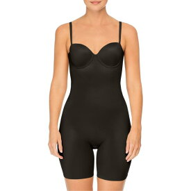 SPANX?< SUP> 【 SUIT YOUR FANCY STRAPLESS CUPPED MIDTHIGH SHAPER BODYSUIT VERY BLACK 】 インナー 下着 ナイトウエア レディース 送料無料