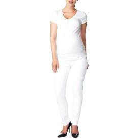 NOPPIES スリム 'LEAH' 【 SLIM OVER THE BELLY MATERNITY JEANS WHITE 】 キッズ ベビー マタニティ ママ マタニティウエア 授乳服 ボトムス 送料無料