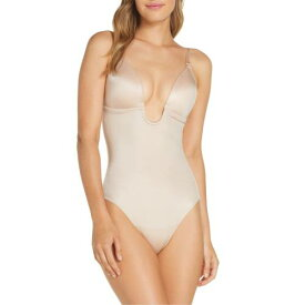 SPANX?< SUP> 【 SUIT YOUR FANCY PLUNGE LOW BACK THONG BODYSUIT CHAMPAGNE BEIGE 】 インナー 下着 ナイトウエア レディース 送料無料