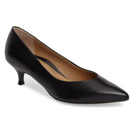 VIONIC ポンプ レディース 【 Josie Kitten Heel Pump 】 Black Leather