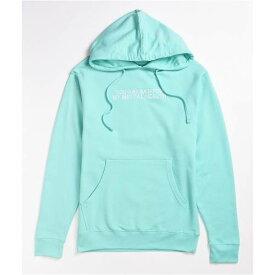 DREAM CLOTHING LLC ドリーム 青色 ブルー フーディー パーカー アクア D.R.E.A.M 【 DREAM CLOTHING LLC BAD FOR MY MENTAL HEALTH MINT BLUE HOODIE TURQUOISE AQUA 】