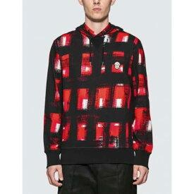アレキサンダーマックイーン ALEXANDER MCQUEEN メンズファッション トップス パーカー メンズ 【 Painted Checker Hoodie 】 Red / Black