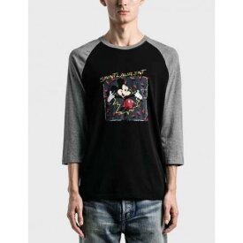 サンローラン SAINT LAURENT Tシャツ 黒色 ブラック メンズ 【 SAINT LAURENT MICKEY MOUSE TSHIRT BLACK 】