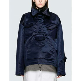 MAISON MARGIELA レディース 【 Techno Canvas Anorak Jacket 】 Blue Navy
