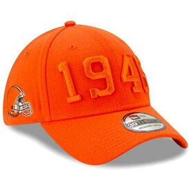 ニューエラ NEW ERA クリーブランド サイドライン ラッシュ 茶 ブラウン バッグ キャップ 帽子 メンズキャップ メンズ 【 Cleveland S 2019 Nfl Sideline Color Rush 39thirty Flex Hat Brown 】 Orange
