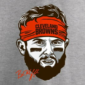 NFL PRO LINE BY FANATICS BRANDED クリーブランド ブラウンズ 子供用 ヘッドバンド Tシャツ ヘザー 灰色 グレー グレイ キッズ ベビー マタニティ トップス ジュニア 【 Baker Mayfield Cleveland Browns Yo