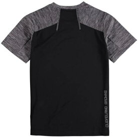 OUTERSTUFF クリーブランド ブラウンズ 子供用 ラグラン Tシャツ 灰色 グレー グレイ キッズ ベビー マタニティ トップス ジュニア 【 Cleveland Browns Youth Magna Peak Raglan T-shirt - Black/heathered Gray