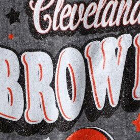ニューエラ NEW ERA クリーブランド ブラウンズ 子供用 スリーブ ブイネック Tシャツ 灰色 グレー グレイ キッズ ベビー マタニティ トップス ジュニア 【 Cleveland Browns Girls Youth Starring Role