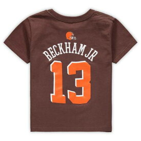 OUTERSTUFF クリーブランド ブラウンズ 子供用 チーム Tシャツ 茶 ブラウン Jr. キッズ ベビー マタニティ トップス ジュニア 【 Odell Beckham Jr. Cleveland Browns Youth Mainliner Team Name And Number T-shirt -