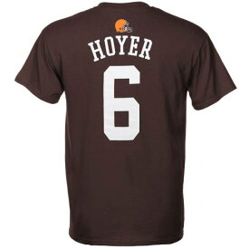 OUTERSTUFF クリーブランド ブラウンズ ロゴ 子供用 ギア Tシャツ 茶 ブラウン キッズ ベビー マタニティ トップス ジュニア 【 Brian Hoyer Cleveland Browns Historic Logo Youth Primary Gear Name And Number T-sh