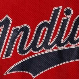 STITCHES クリーブランド インディアンズ 子供用 ブイネック ジャージ Tシャツ キッズ ベビー マタニティ トップス ジュニア 【 Cleveland Indians Girls Youth V-neck Jersey T-shirt - Red/navy 】 Red/navy