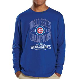 SOFT AS A GRAPE シカゴ カブス 子供用 シリーズ スリーブ Tシャツ 【 SLEEVE CHICAGO CUBS YOUTH 2016 WORLD SERIES CHAMPIONS LONG TSHIRT ROYAL 】 キッズ ベビー マタニティ トップス 送料無料