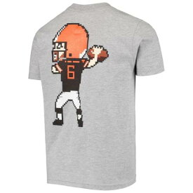 OUTERSTUFF クリーブランド ブラウンズ 子供用 Tシャツ 灰色 グレー グレイ キッズ ベビー マタニティ トップス ジュニア 【 Baker Mayfield Cleveland Browns Youth Pixel Player Name And Number T-shirt - Heathered