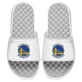 ISLIDE スケートボード ウォリアーズ ロゴ サンダル メンズ スポーツサンダル 【 Golden State Warriors Global Logo Slide Sandals 】 White
