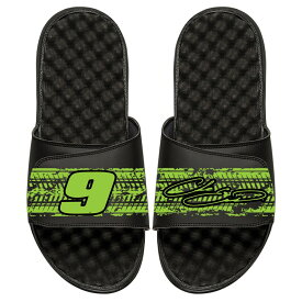 ISLIDE チェイス サンダル メンズ スポーツサンダル 【 Chase Elliott Driver Tire Marks Slide Sandals 】 Black