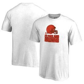 NFL PRO LINE BY FANATICS BRANDED クリーブランド ブラウンズ 子供用 トレーニング Tシャツ キッズ ベビー マタニティ トップス ジュニア 【 Cleveland Browns Youth Training Camp Hookup T-shirt 】 White