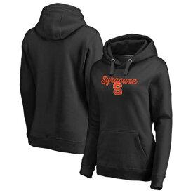 FANATICS BRANDED シラキュース 橙 オレンジ レディース 黒 ブラック レディースファッション トップス パーカー 【 Syracuse Orange Womens Freehand Pullover Hoodie - Black 】 Black