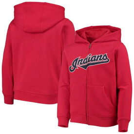 OUTERSTUFF クリーブランド インディアンズ 子供用 チーム キッズ ベビー マタニティ トップス ジュニア 【 Cleveland Indians Youth Team Color Wordmark Full-zip Hoodie 】 Red