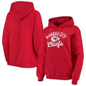 ニューエラ NEW ERA カンザス シティ チーフス レディース フリース 赤 レッド レディースファッション トップス パーカー 【 Kansas City Chiefs Womens Brushed Fleece Pullover Hoodie - Red 】 Red