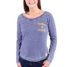 スポーティック SPORTIQE クリーブランド キャバリアーズ レディース 紺色 ネイビー 青色 ブルー WOMEN'S 【 SPORTIQE ANNA THERMAL SHIRT NAVY BLUE 】 レディースファッション トップス Tシャツ カット