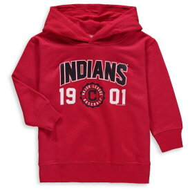 SOFT AS A GRAPE クリーブランド インディアンズ ベビー 赤ちゃん用 フリース 赤 レッド キッズ マタニティ トップス ジュニア 【 Cleveland Indians Toddler Fleece Pullover Hoodie - Red 】 Red