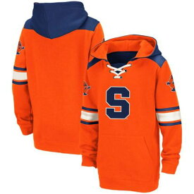 COLOSSEUM シラキュース 橙 オレンジ 子供用 【 ORANGE SYRACUSE YOUTH LACEUP STRIPED PULLOVER HOODIE 】 キッズ ベビー マタニティ トップス 送料無料