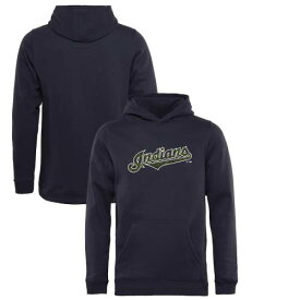 FANATICS BRANDED クリーブランド インディアンズ 子供用 紺 ネイビー キッズ ベビー マタニティ トップス ジュニア 【 Cleveland Indians Youth Armed Forces Wordmark Pullover Hoodie - Navy 】 Navy