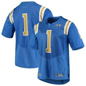 アンダーアーマー UNDER ARMOUR カルフォルニア ブルーインズ チーム ジャージー 青色 ブルー #1 【 TEAM UNDER ARMOUR REPLICA FOOTBALL JERSEY BLUE 】 スポーツ アウトドア アメリカンフットボール