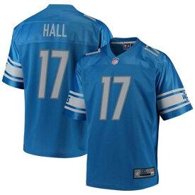 エヌエフエルプロライン NFL PRO LINE プロ デトロイト ライオンズ ジャージー 青色 ブルー 【大きめ】 【 NFL PRO LINE MARVIN HALL PLAYER JERSEY BLUE 】 スポーツ アウトドア アメリカンフットボール