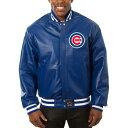 JH DESIGN シカゴ カブス チーム レザー 【 TEAM CHICAGO CUBS COLOR LEATHER JACKET ROYAL 】 メンズファッション コ…
