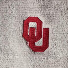 BOXERCRAFT レディース フリース 【 Oklahoma Sooners Womens Fuzzy Fleece Colorblocked Four-snap Pullover Jacket - Gray/cream 】 Gray/cream