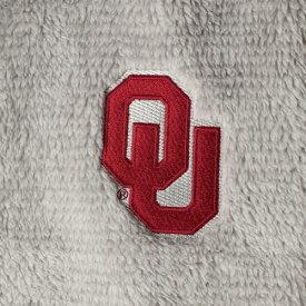 BOXERCRAFT レディース フリース 【 Oklahoma Sooners Womens Plus Size Fuzzy Fleece Colorblocked Four-snap Pullover Jacket - Gray/cream 】 Gray/cream