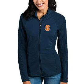 ANTIGUA シラキュース 橙 オレンジ レディース 紺 ネイビー 【 Syracuse Orange Womens Sonar Full-zip Jacket - Navy 】 Navy