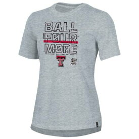 アンダーアーマー UNDER ARMOUR テキサス テック 赤 レッド レイダース レディース メンズ バスケットボール Tシャツ ヘザー 灰色 グレー グレイ レディースファッション トップス カットソ