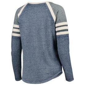 CONCEPTS SPORT シラキュース 橙 オレンジ レディース ラグラン スリーブ Tシャツ レディースファッション トップス カットソー 【 Syracuse Orange Womens Cross Neck Raglan Long Sleeve T-shirt - Navy/charcoal