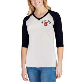 LEAGUE COLLEGIATE WEAR シラキュース 橙 オレンジ レディース ベースボール ブイネック Tシャツ レディースファッション トップス カットソー 【 Syracuse Orange Womens League Camp Baseball V-neck T-shirt -