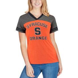 COLOSSEUM シラキュース 橙 オレンジ レディース ジャージ ブイネック Tシャツ レディースファッション トップス カットソー 【 Syracuse Orange Womens The Whole Package Jersey V-neck T-shirt - Orange 】 Ora