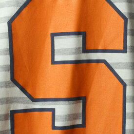 GAMEDAY COUTURE シラキュース 橙 オレンジ レディース スリーブ Tシャツ レディースファッション トップス カットソー 【 Syracuse Orange Womens Elbow Patch Striped Long Sleeve T-shirt - Heathered Gray/white 】