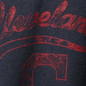 マジェスティック MAJESTIC クリーブランド インディアンズ レディース ブイネック Tシャツ 紺 ネイビー レディースファッション トップス カットソー 【 Cleveland Indians Womens Plus Size Spirit A