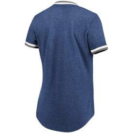 マジェスティック MAJESTIC クリーブランド インディアンズ レディース Tシャツ 紺 ネイビー レディースファッション トップス カットソー 【 Cleveland Indians Womens Driven By Results T-shirt - Navy