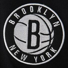 ニューエラ NEW ERA ブルックリン ネッツ ロゴ Tシャツ 黒 ブラック メンズファッション トップス カットソー メンズ 【 Brooklyn Nets Wordmark Logo Cut And Sew Applique Brushed T-shirt - Black 】 Black