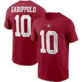 ナイキ NIKE フォーティーナイナーズ チーム Tシャツ メンズファッション トップス カットソー メンズ 【 Jimmy Garoppolo San Francisco 49ers Team Player Name And Number T-shirt - Scarlet 】 Scarlet