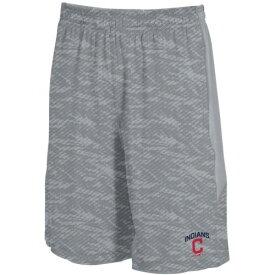 アンダーアーマー UNDER ARMOUR クリーブランド インディアンズ ショーツ ハーフパンツ 銀色 スチール メンズファッション ズボン パンツ メンズ 【 Cleveland Indians Raid Novelty Shorts - Steel 】 St