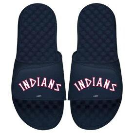 ISLIDE クリーブランド インディアンズ 子供用 クーパーズタウン ロゴ サンダル 紺 ネイビー キッズ ベビー マタニティ ジュニア 【 Cleveland Indians Youth Cooperstown Logo Slide Sandals - Navy 】 Navy
