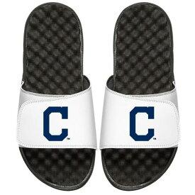 ISLIDE クリーブランド インディアンズ 子供用 ロゴ サンダル 白 ホワイト キッズ ベビー マタニティ ジュニア 【 Cleveland Indians Youth Alternate Logo Slide Sandals - White 】 White