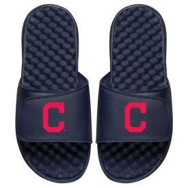 ISLIDE クリーブランド インディアンズ 子供用 ロゴ サンダル 紺 ネイビー キッズ ベビー マタニティ ジュニア 【 [customized Item] Cleveland Indians Youth Personalized Primary Logo Slide Sandals - Navy 】 Navy