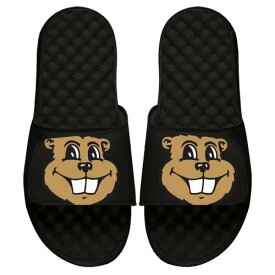ISLIDE ミネソタ サンダル 黒 ブラック メンズ スポーツサンダル 【 Minnesota Golden Gophers Mascot Slide Sandals - Black 】 Black